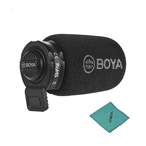 BOYA BY-A7H Mini Kondensatormikrofon Omnidirektional Mikrofon Interviews Videos für iOS und Android Smartphone iPad iPod Touch (3,5-mm-Buchse) -