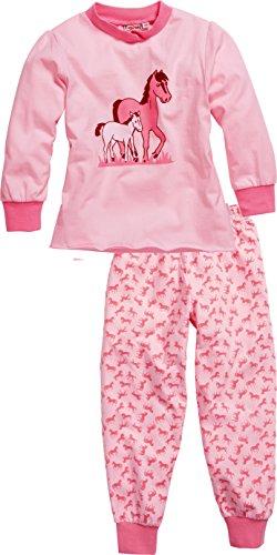 Playshoes Mädchen Single-Jersey Pferde Zweiteiliger Schlafanzug, Rosa (original 900), (Herstellergröße: 116)