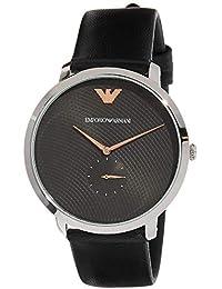 83b320c111c6 Emporio Armani Reloj Analógico para Hombre de Cuarzo con Correa en Cuero  AR11162