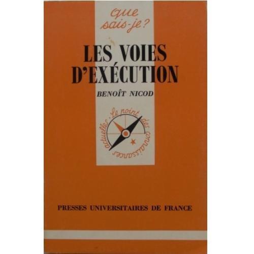Les Voies d'exécution par Benoît Nicod