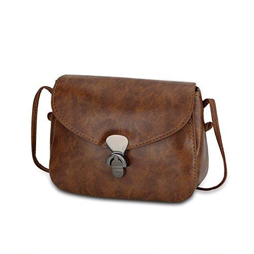 Faysting EU donna borsa a tracolla borsa a spalla pelle materiale piccola retro stile buon regalo san valentino B