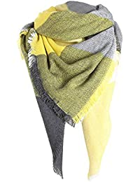 Écharpe Femme Hiver, Couleurs Chaudes Coutures Longue Foulards à Carreaux  Col Châle en Laine Bringbring c14fe25ef8f