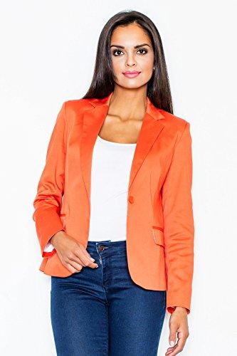 Figl Elegantes Jackett Blazer mit schönem Schnitt, Größe 38, Orange