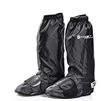 AKDSteel Cycling Shoes Cover Reflective Waterproof Windproof Warm Bicycle Overshoes Waterproof Windproof Mountain Bike Shoe Covers black M -for auto