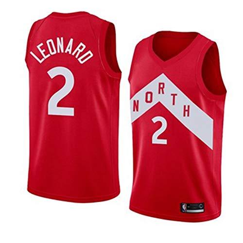 Kawhi Leonard # 2 Herren-Basketballtrikots - Wende-Basketballtrikots für Herren mit Mesh-Einsatz Sport, Toronto Raptors Kurzarm Offiziell Lizenziertes Team-6-XS -