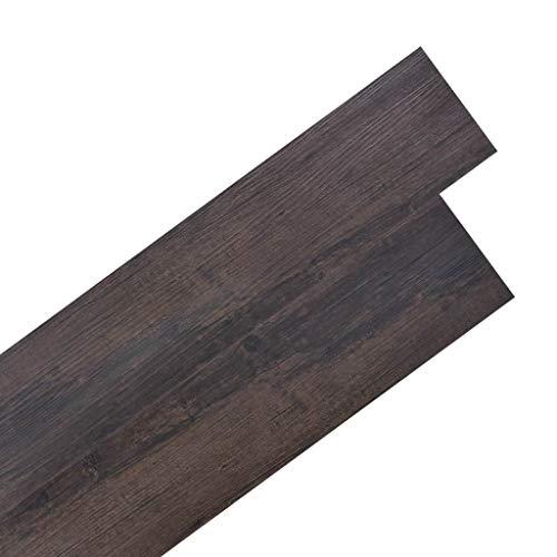 Vidaxl listoni pavimentazione autoadesivi in pvc 5,02 m² 2 mm marrone listelli