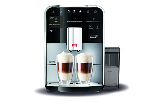 Melitta Caffeo Barista TS Smart F850-101 Kaffeevollautomat mit Milchbehälter | Smartphone-Steuerung mit Connect App | One Touch Funktion | Pro Aqua Filtertechnologie | Silber 10 One-touch-memory