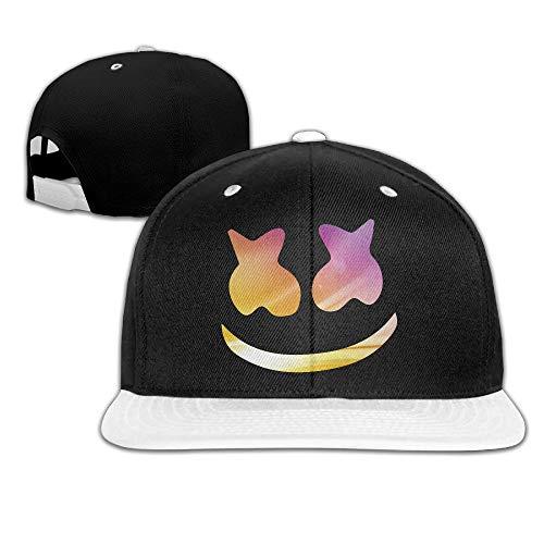 Fashionable Colorful Light Marshmello Face Adjustable Baseball Hip-Hop Caps