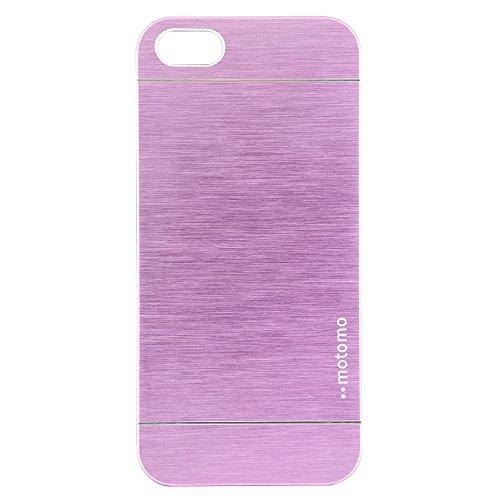 NessKa® Ultra Slim Edel Aluminium Back Cover Schutz Hülle Schale Metall Case Back Cover Bumper Tasche für iPhone 5 / 5S Pink Rosa