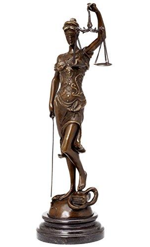 Escultura Justicia de bronce Dama de la Justicia estilo antiguo figura - 41cm