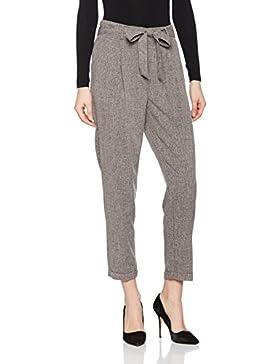 New Look Damen Slim Hose Speckle Tie Waist, Mehrfarbig (Grau), 42 (Herstellergröße: 14)