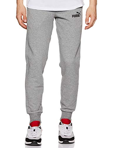 Eisen-polyester Hose (Puma Herren ESS Logo Pants TR cl Hose, Medium Gray Heather, XL)