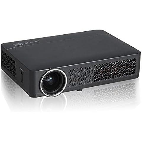 HTP–800wm DLP WIFI port portátil DLP Mini Android 4.2inteligente 3d Proyector HD con HDMI, USB, VGA para Repro Photoconductor de Blu-ray, Xbox, PlayStation3U recorrido de juegos