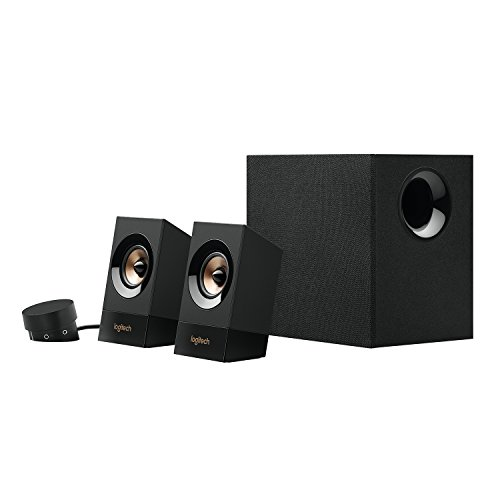 41LRpMQcZRL. SS500  - Logitech Z533 2.1 Multimedia Speaker System with Subwoofer, Powerful Sound, 120 Watts Peak Power, Booming Bass, 3.5mm Audio and RCA Inputs, Multi-Device, PC/PS4/Xbox/TV/Smartphone/Tablet/Music Player