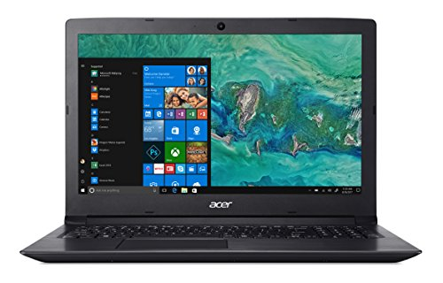 "Acer Aspire 3 A315-53-510N Notebook con Processore Intel Core i5-8250U, RAM da 8 GB DDR4, 1 TB HDD, Display da 15.6"" HD LED LCD, Scheda grafica Intel UHD 620, Windows 10 Home, Nero"