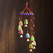eCraftIndia Cotton Door Hanging (Multicolour_5.5X5.5X19 Inch) (STRBEL500)
