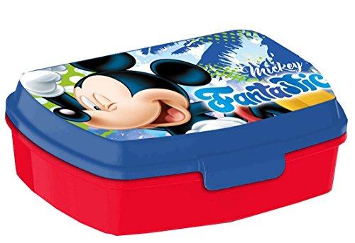 Kids Euroswan Sandwichera Estampado Mickey Mouse, Plástico, Multicolor, 15x10x5 cm