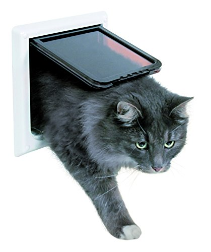Puerta para gatos TRIXIE Gatera 4 posiciones y Túnel Blanco
