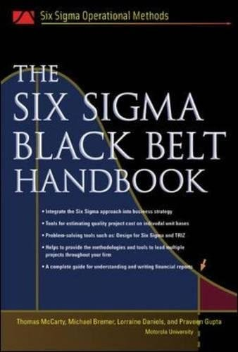 The Six Sigma Black Belt Handbook (Six Sigma Operational Methods) por Thomas Mccarty
