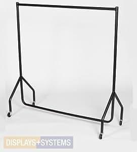 stabiler kleiderst nder auf rollen kleiderstange garderobenst nder rollst nder breite 122cm. Black Bedroom Furniture Sets. Home Design Ideas