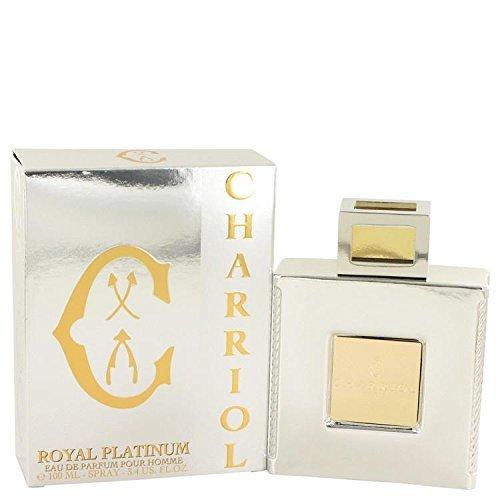 Charriol Royal Platinum by Charriol Eau De Parfum Spray 3.4 oz for Men - 100% Authentic by Charriol