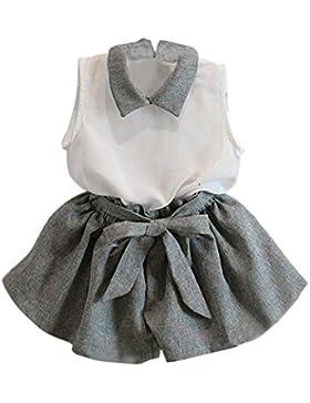 Vestido de niña, RETUROM Camiseta sin mangas de la nueva muchacha del estilo y juego de vestido de la falda