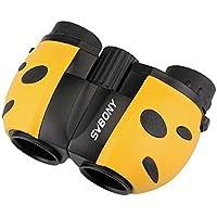 Svbony 8 x 21 telescopios prismáticos niños, Bonito,Ligero y un Buen Regalo para los niños de observar de Aves, al Aire Libre, los Deportes (Amarillo)