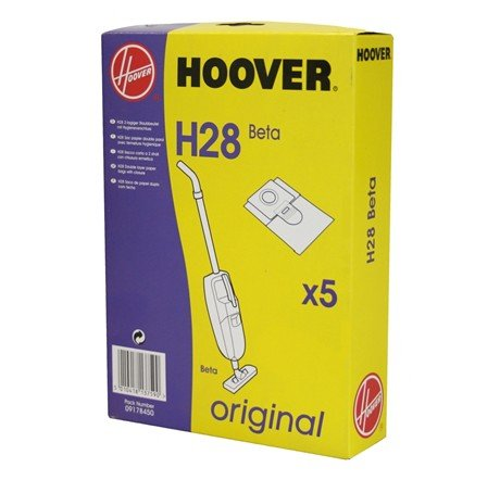 Packung mit 5Staubsaugerbeutel aus Papier H28BETA