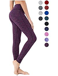 5160941f036 QUEENIEKE Women Power Stretch Leggings Plus Size Medium Waist Yoga Pants  Hidden Pocket Running Tights