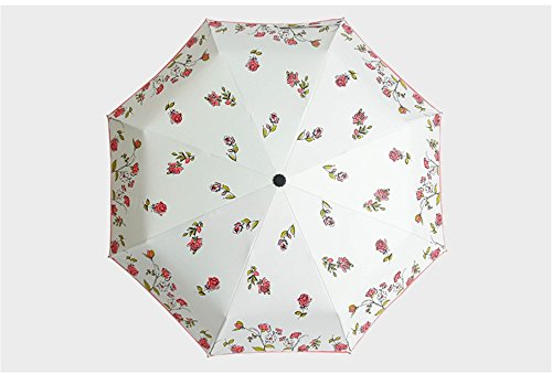 Dyewd ombrello,estate nuovo ombrello, personalità creativa nuovo ombrello, ombrello stampa rosa, ombrellone all'aperto, ombrellone in plastica nera, rosso