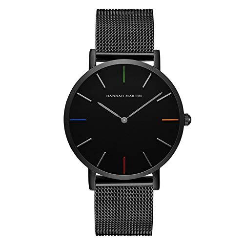 Unendlich U Herren Uhren Armbanduhr Edelstahl Mesh Armband Klassisch 30 M Wasserdicht Analog Quarzuhr Dünne Uhr-Herren mit Milanaise-Armband
