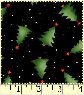 Christmas Classics Sapin de tissu format Fat Quarter en coton Noir