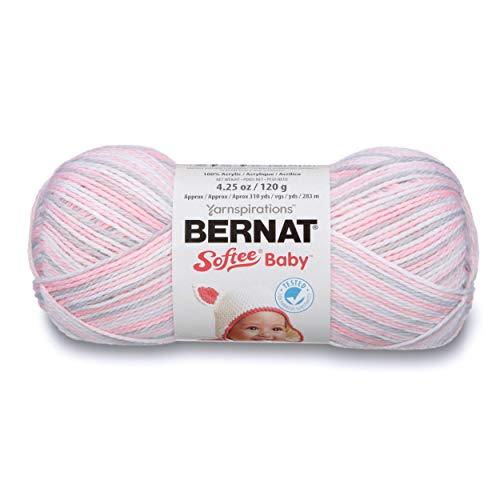 Bernat klein Acryl Softee Baby Ball Garn, Rosa Flanell Ombre -