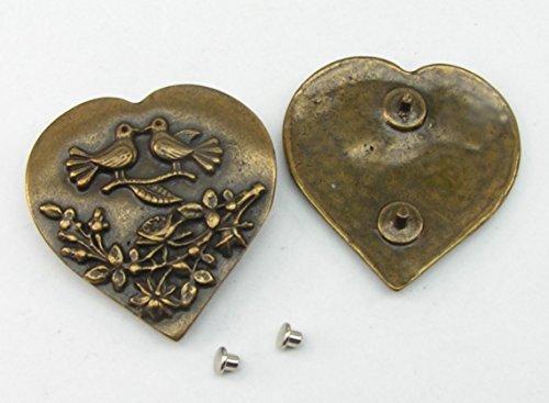 1 Zierniete Metall Applikatione Zierteil Trachten Herz 05.14/312