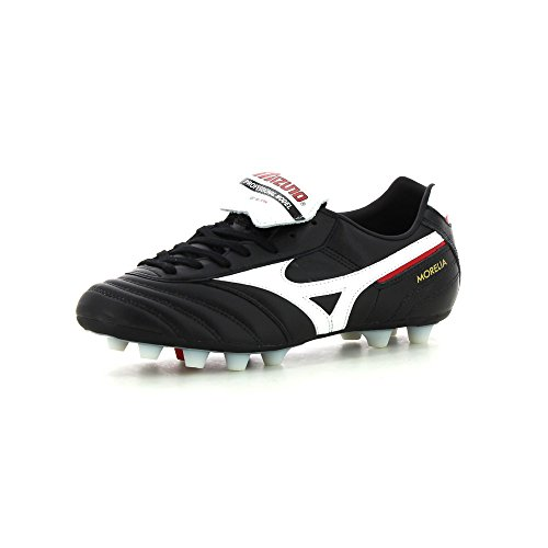 Morelia Moulded FG Football Boots - Black / White - size 12 (Union Boot-pro)