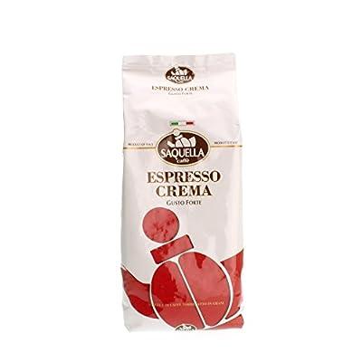 Saquella ESPRESSO CREMA Slow Roasted Gourmet Italian Espresso Coffee Beans 1kg bag