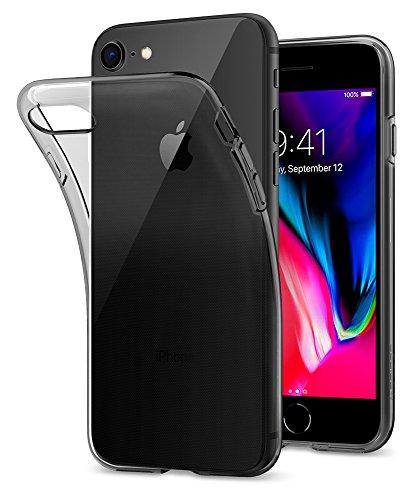 Spigen 042CS20846 Liquid Crystal Kompatibel mit iPhone 8/7 Hülle, Semi Transparent TPU Silikon Durchsichtige Schutzhülle Case Space Crystal