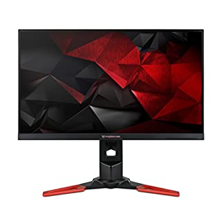 Acer Predator XB271HUbmiprz 27 Inch WQHD Gaming Monitor, (IPS Panel, G-Sync, 165 Hz (OC), 4 ms, ZeroFrame, DP, HDMI, USB Hub, Height Adjustable Stand) Black/Red