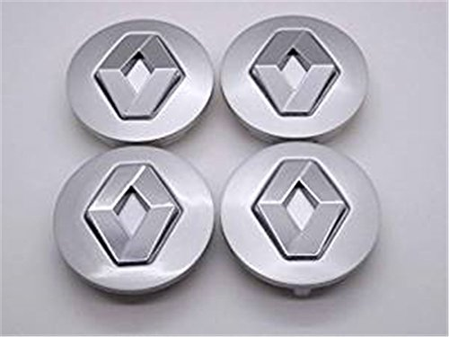 Renault 57 mm Alloy Wheel Centre Caps Hub Emblema Covers Badges/Buje Tapa Llanta Tapa