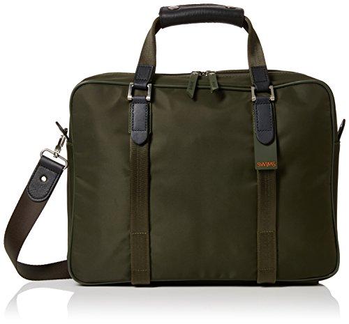 Swims Unisex-Erwachsene Attache Laptop Tasche, Grün (Olive), 50x36x48 centimeters