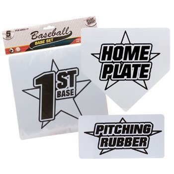 Baseball Base Set with Home Plate and Pitcher's Mound (Set Baseball Base)