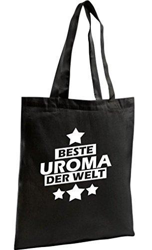 Shirtstown Shopping Bag Organic Zen, Shopper beste Uroma der Welt, Farbe schwarz (Zen-damen-tasche)