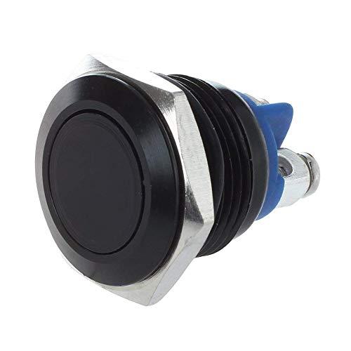 sourcingmap/® 2 pcs DC 12V auto voiture moto c/âbl/é corne bouton poussoir Interrupteur