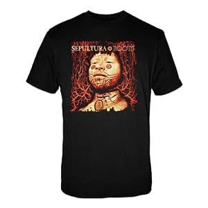 """T-Shirt Homme Noir Sepultura  """"Roots"""" (Taille M)"""