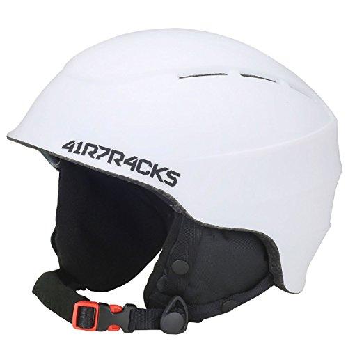 Airtracks Ski- und Snowboardhelm Master T52 mit Ventilationssystem und stufenloser Anpassung - weiß - M