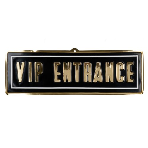 NEU Wand-Deko VIP ENTRANCE aus PVC 20 x 60 (Stars Kostüme Party Hollywood)