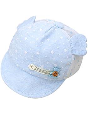 Kanggest Gorra de Malla de Algodón de Bebé de Verano con Pequeñas Alas Sombrero de Béisbol Bebé para Bebé de 3...
