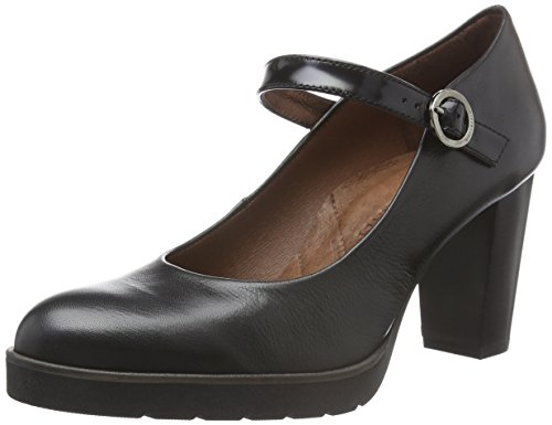 HispanitasVIENA - Scarpe con Tacco Donna , Nero (Schwarz (SOHO-I6 BLACK ANTIQUE-I6 BLACK)), 37