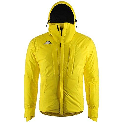 Chaqueta Kappa amarilla para hombre con capucha