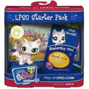 Littlest Pet Shop LPSO STARTER PACK CHAT FELINE avec carte à jouer en ligne LPSO.COM